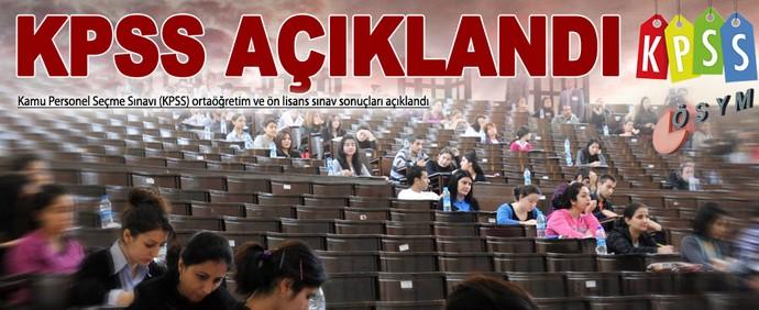 2014 KPSS Önlisans/Ortaöğretim Sonuçları Açıklandı