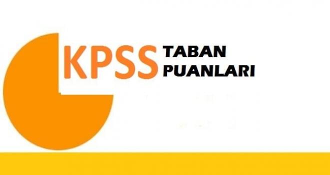 KPSS 2019/4 Branş Bazında Taban Puanlar (Önlisans)
