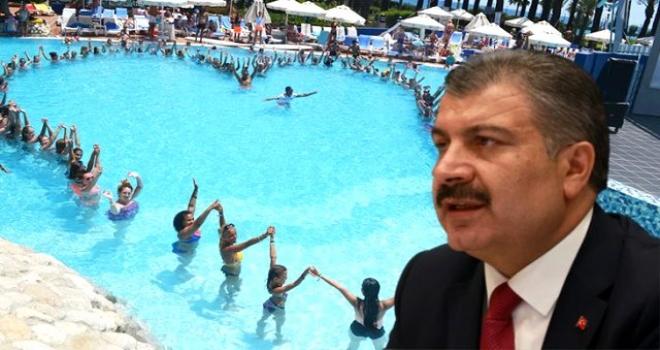"""Sağlık Bakanı Fahrettin Koca'dan """"Havuz"""" Uyarısı"""