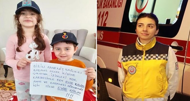 Bakan Koca'nın Paylaştığı Kardeşlerin ATT Annesi: Lütfen Evlerinizde Kalın