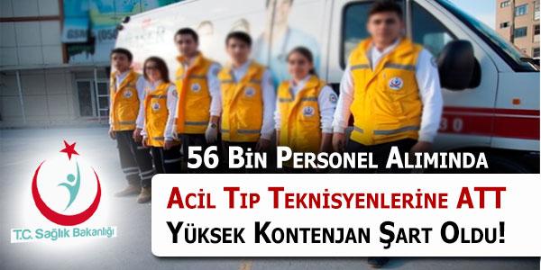 Sağlık Bakanlığı Personel Alımında Acil Tıp Teknisyenlerinin (ATT) Haklı Kontenjan Talebi