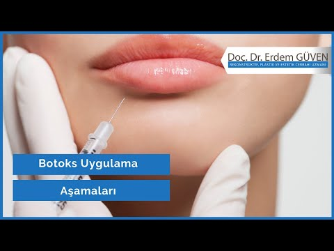 Botoks Nedir? Botoks Tedavisi Nasıldır?   Botox   Botulinum Toksini   Prof. Dr. Erdem GÜVEN