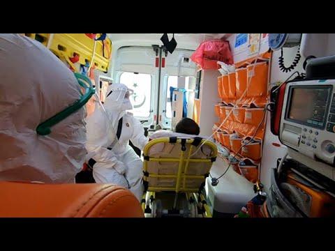 112 Acil Servis Ekiplerinin virüs mesaisine TRT Haber ekibi de eşlik etti