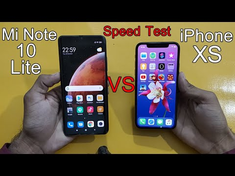 iPhone xs vs Mi note 10 lite speed test | Android midranger vs iphone 's old flagship
