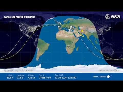 Space Station Tracking Map (Iss) (라이브 우주 정거장 추적지도)