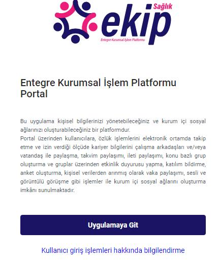 Ekip Portal Giriş